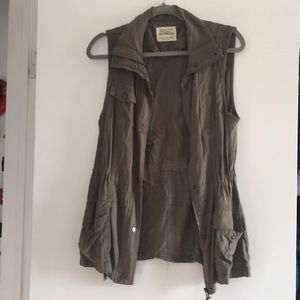 Ashley by 26 Outwear Military Green Vest